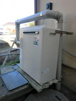 給湯器 新潟県新発田市 RFS-A2400SAリンナイ隣接設置 給湯器