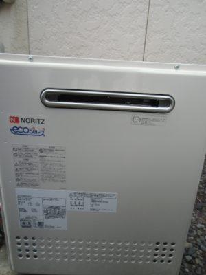 新潟市 給湯器交換工事 GT-C2052SARX-2BLノーリツエコジョーズ給湯器