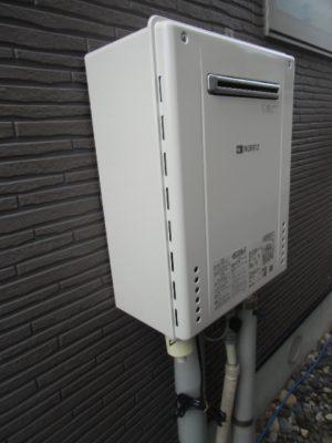 給湯器交換 新潟県新発田市・ガス給湯器故障取り替え工事