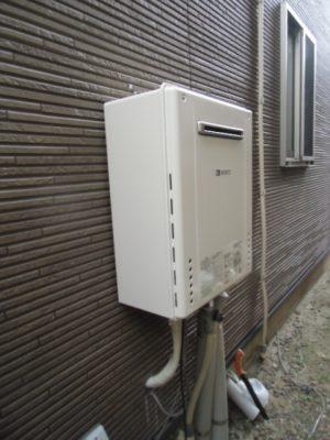 給湯器交換工事 新潟県見附市・ガス給湯器故障取り替え交換工事